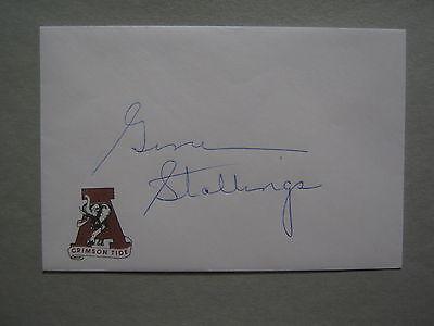 GENE STALLINGS  Signed Crimson Tide(University of Alabama)4 1/4 x 6 1/4 Envelope
