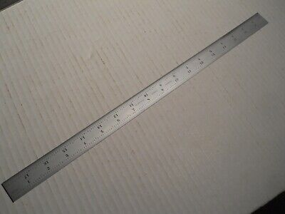 Starrett 18 Grooved Rule For Combination Square Sets. 16 Grads Used Free Sh