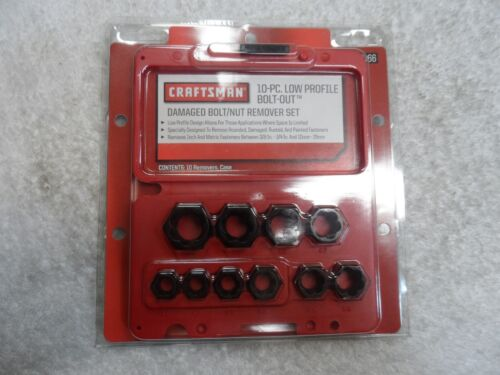 "Craftsman 3/8"" Drive Low Profile Damaged Bolt Nut Remover Set USA - Part # 52166"