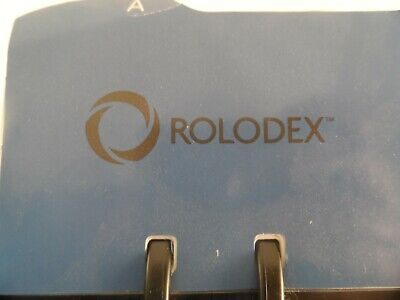 Rolodex Metal Frame Business Card File Dividers Blank Cards