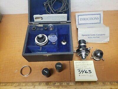 Spencer Dark Field Condenser Microscope Spencer Ao Kit Appears Unused Orig.box