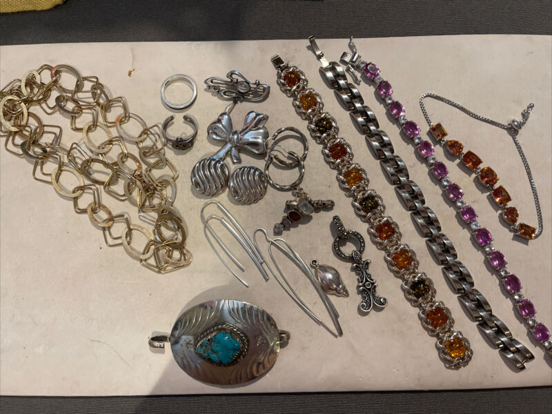 Lot Of Assorted Sterling Silver Jewelry- 185 Grams