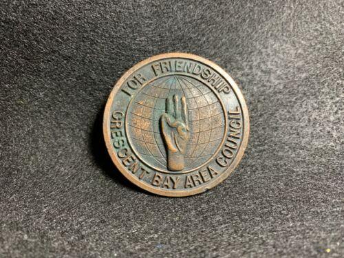 Vintage Boy Scouts Crescent Bay Area Council Neckerchief Slide