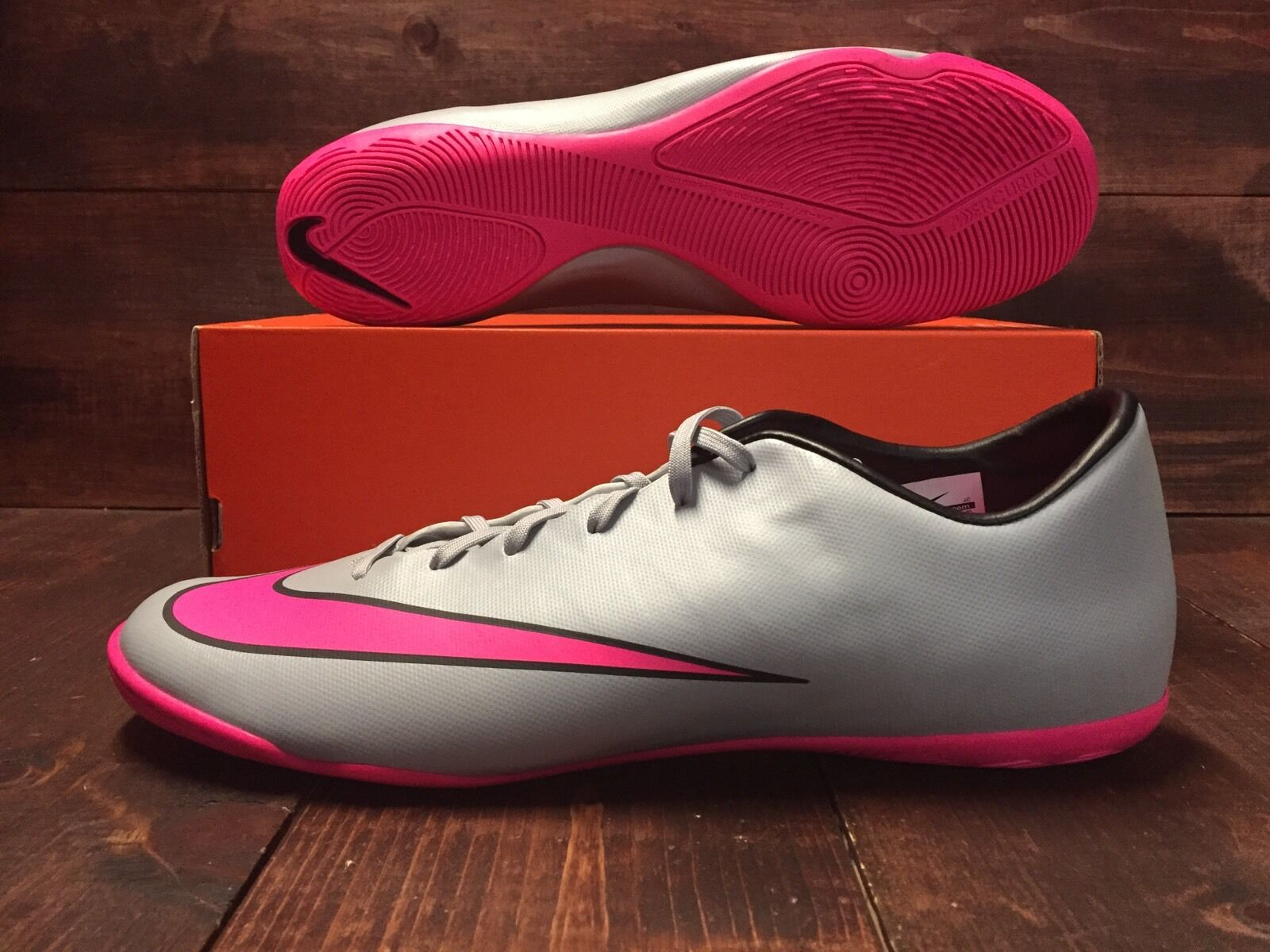 864fbc4e7 ... authentic nike mercurial victory v 5 ic soccer shoes grey hyper pink sz  13 651635 060