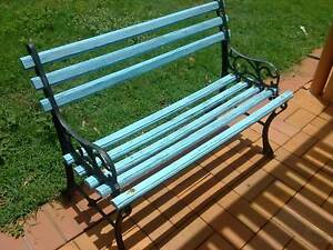 garden bench seat cast iron vintage project Thornlands Redland Area Preview