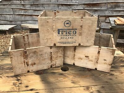2x Rustic storage boxes shabby chic Upcycled Recycled wooden aged apple