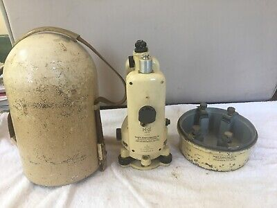 Vintage Keuffel Esser Theodolite Surveying Directional With Case