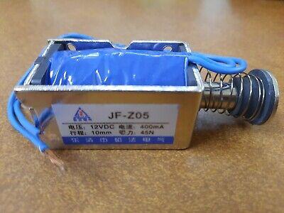 Dc 12v 400ma Push Pull Type Open Frame Solenoid Electromagnet 10mm 45n 9.9lb