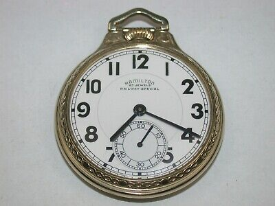 Hamilton 16 Size 23 Jewel Model 950B open face railroad Pocket Watch. 89Y