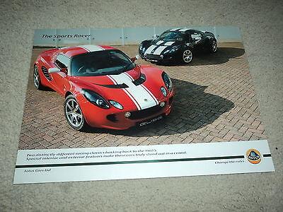 Lotus The Sports Racer  Brochure/Spec Sheet - Mint