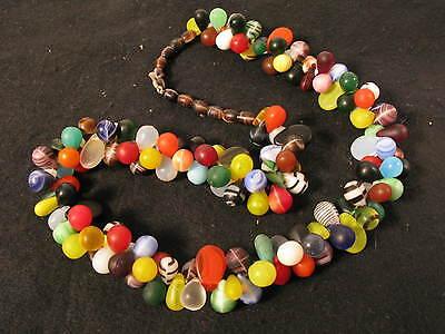 Alte böhmische Glasperlen kleine Tropfen Old Fulani wedding trade beads Afrozip
