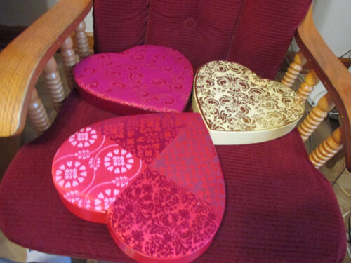 Vintage Valentine Heart Candy Boxes-3 -Whitman