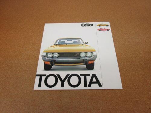 1974 Toyota Celica GT ST sales brochure 8 page ORIGINAL