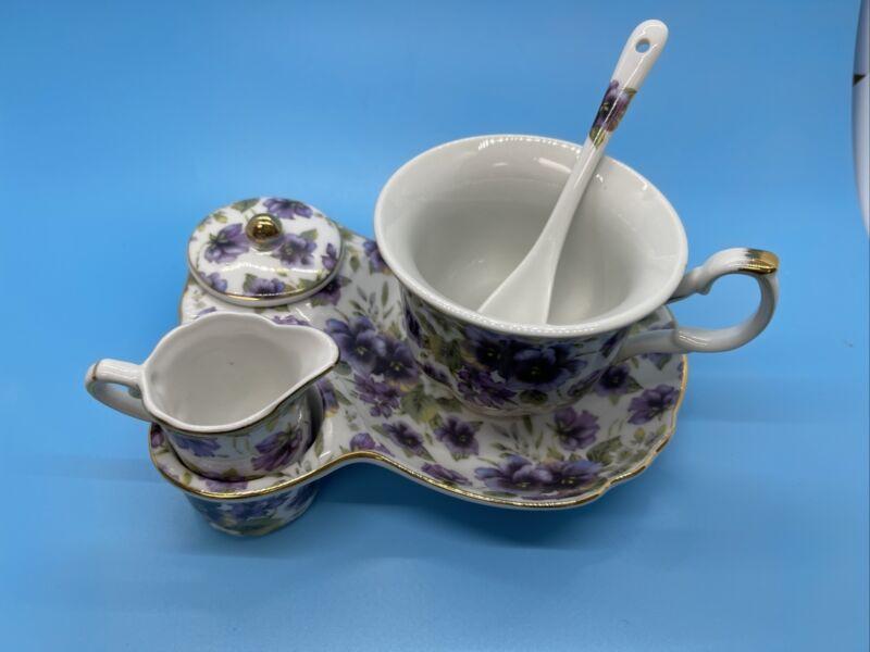 Vintage Sorelle Fine Porcelain Tea Set For One