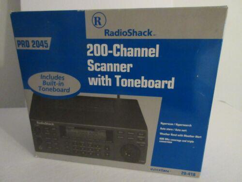 Radishack Scanner PRO 2045 200 Channel Scanner Original Box
