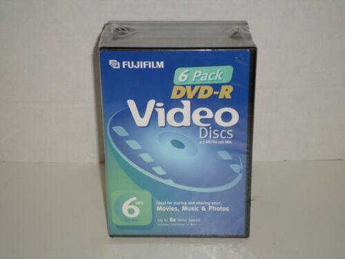 Fujifilm DVD-R Video Discs Set Of 6 NEW Up To 8x Write Speed Nice