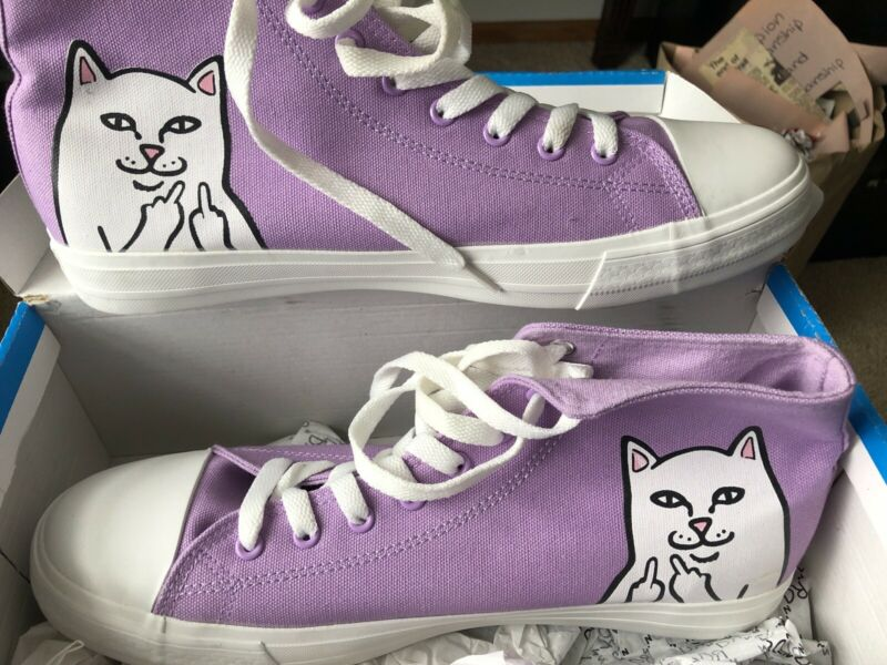 RIPNDIP Skateboards LORD NERMAL - Light Pastel Purple HI-TOP SHOES Women Size 12