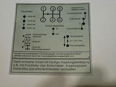 Unimog Schaltschema Aufkleber 421-403-406-416 Vorschaltgetriebe