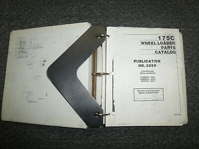 Clark Michigan 175c Wheel Loader Parts Catalog Manual Sn 490a