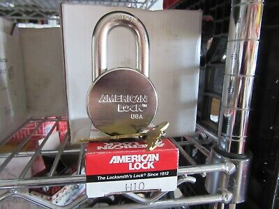 American Lock H10 Heavy Duty Padlock Hardened Keyed Alike With Two Keys New