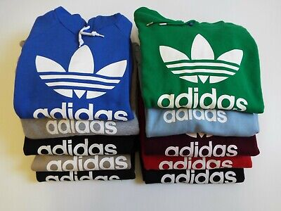 Adidas Originals Trefoil Big Logo Spell Out Hoodie Hooded Sweatshirt