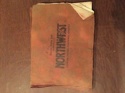Northwest 80 D A 95 Shovel Crane Parts Book Repair List Manual Catalog 1962
