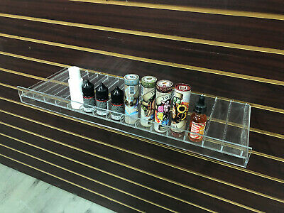 Clear Slatwall Shelves 24 X 8.75 Retail Display To Fit 1 Oz. Boston Rounds