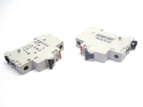 Lot of 2 ABB S 201 D6 1 Pole Circuit Breakers 230/400