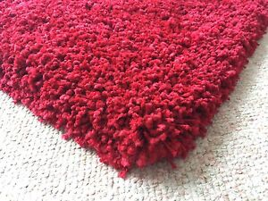 Ultra thick super soft Shag rug in Red - 2 months old Mosman Mosman Area Preview