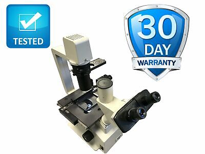 Nikon Tms Inverted Phase Contrast Microscope Complete Objectives Warranty