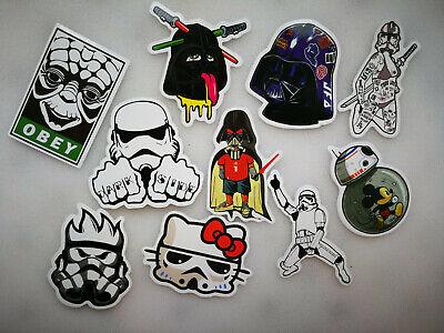 10 x STAR WARS vinyl grafitti bomb Stickers Random Car Laptop Skate #1
