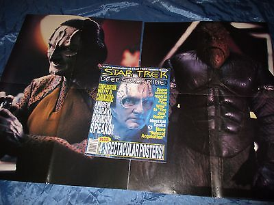 STAR TREK  , Deep Space Nine  # 9 , Film Magazin USA / Original , mit 2  POSTER