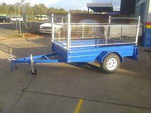 8X5 HEAVY DUTY BOX TRAILER, CAGED, MOWING, GARDENING, TRADESMAN, Thorneside Redland Area Preview