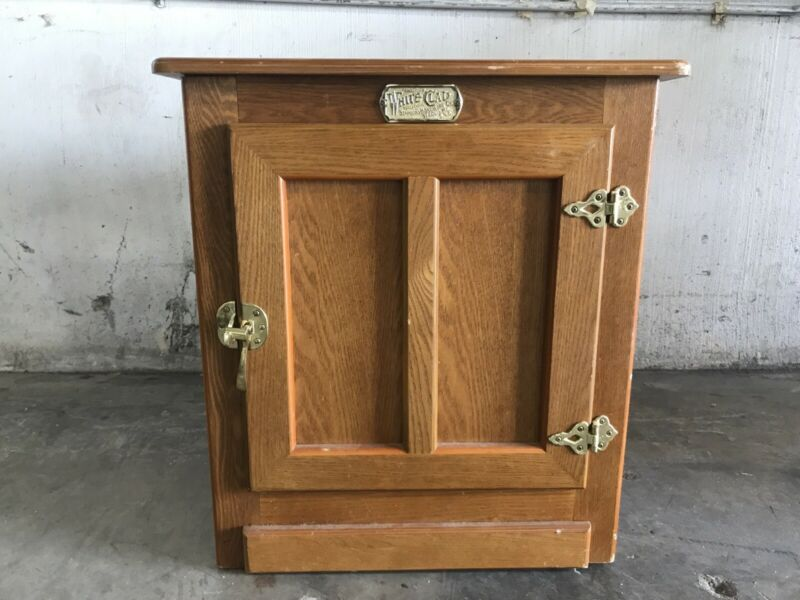 White Clad Ice Box Chest End Table, Simmons Hardware St. Louis Reproduction