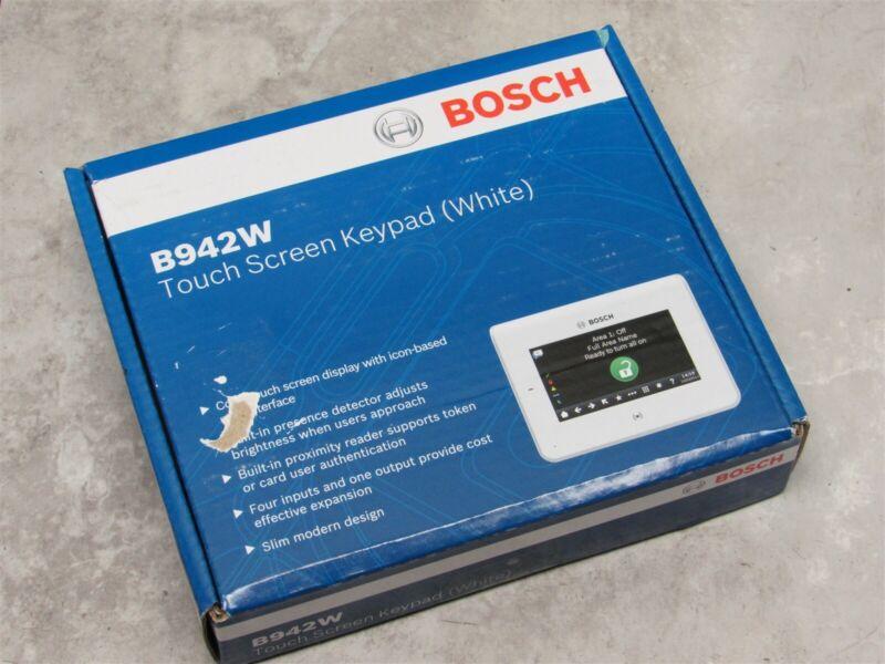 NEW Bosch B942W Touch Screen Security Keypad w/ Proximity Reader - WHITE