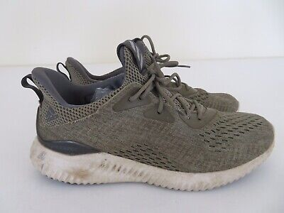 11617132ba775 Adidas Alphabounce Mens Olive Green Athletic Shoes BW1203 Size 9.5