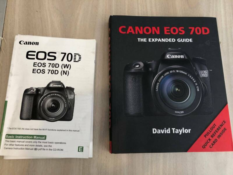 Canon EOS 70D DSLR Camera with Lens and extras   Digital SLR