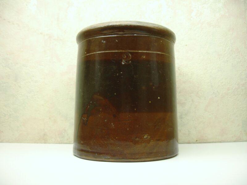 Vintage Salt Glazed NO. 2 Brown Stoneware Primitive Red Wing Crock Hand Turned