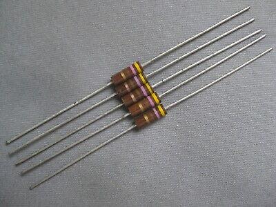 470 Ohm 5 12 Watt Carbon Composition Vintage Resistors Lot Of 5 Pieces