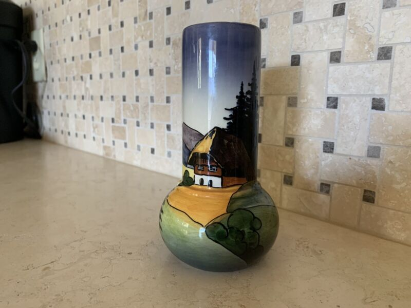 Schwarz-Waldhaus Zell Handmade Vase, Germany, Vintage Original, Hand Painted