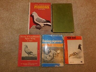 5 VINTAGE RACING PIGEON BOOKS SQUILLS BISSETT BARRETT NEILSON HUTTON NAETHER