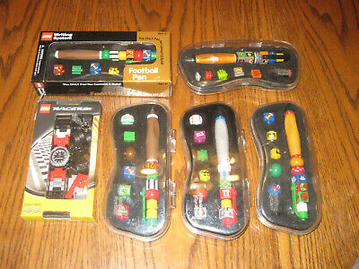 HUGE Lot Lego Writing System Pens (5) & Racers Watch (1) FREE Shipping