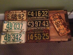 Vintage Licence Plates