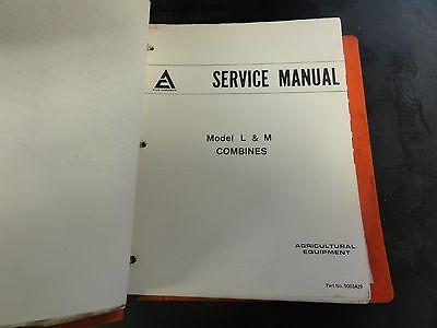 Allis Chalmers Model L M Combines Service Manual