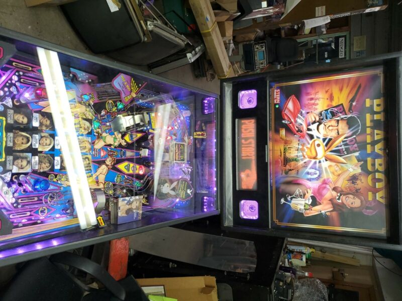 Playboy pinball by Stern.reconditioned up to 4 player pinball.