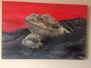 Fancy Bearded Dragon portrait