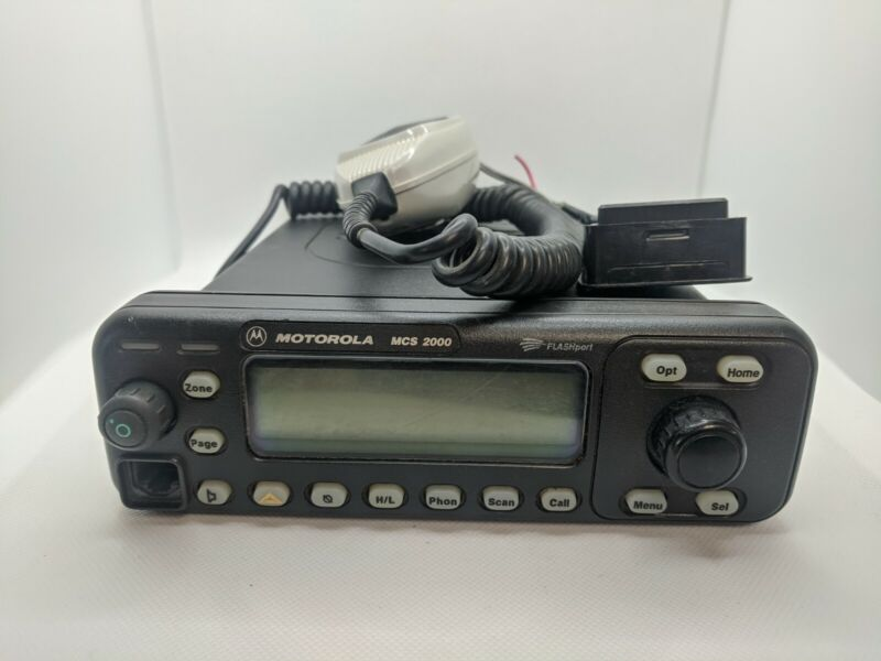Motorola MCS2000 UHF 450-512 Mhz Model 2 Head  250 Channels TESTED GMRS