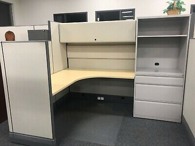 Nice Herman Miller 6x8 Office Cubicles - Cluster Of 6 Workstations
