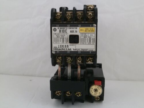 HITACHI AC MAGNETIC CONTACTOR  H10C 120V COIL W/OVERLOAD RELAY TR11-IE  1.0-8.0A