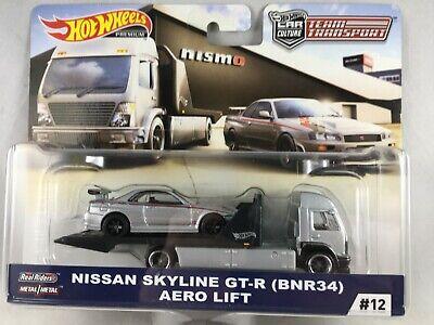 Hot Wheels 2019 Team Transport - Nissan Skyline GT-R (BNR34) Aero Lift